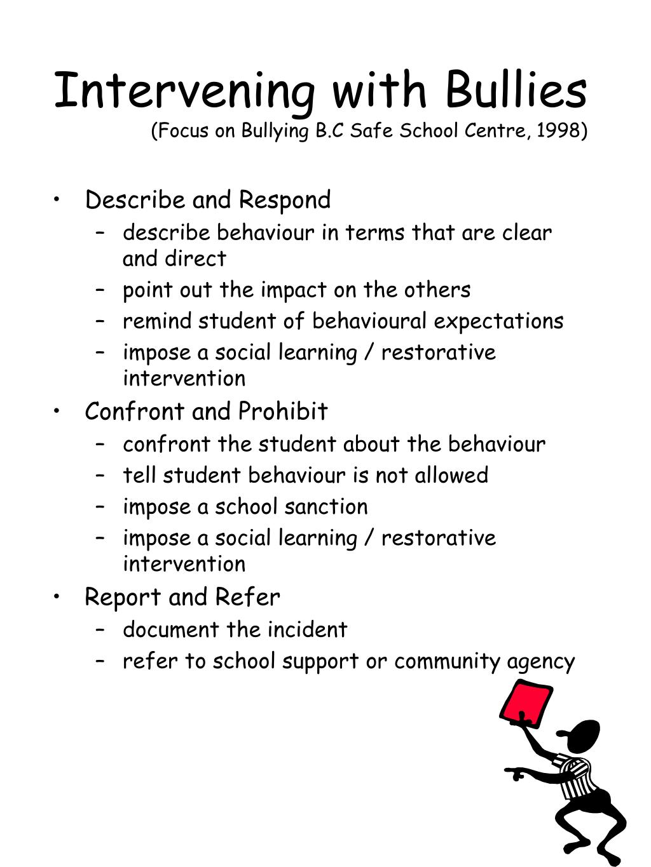 Intervening with Bullies