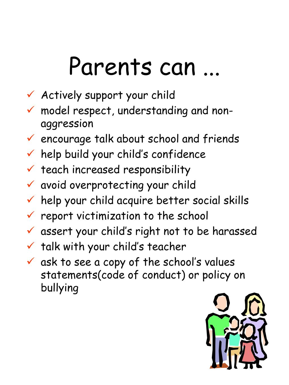 Parents can ...