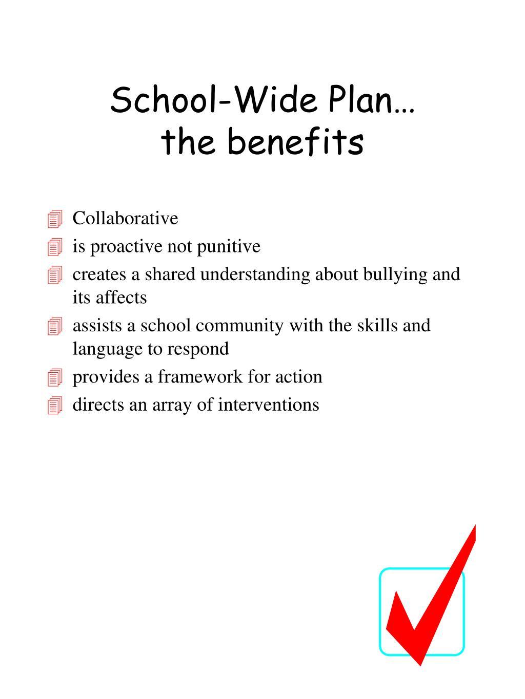 School-Wide Plan…