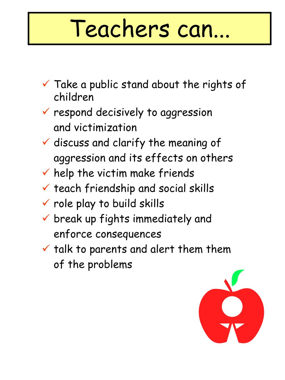 Teachers can...