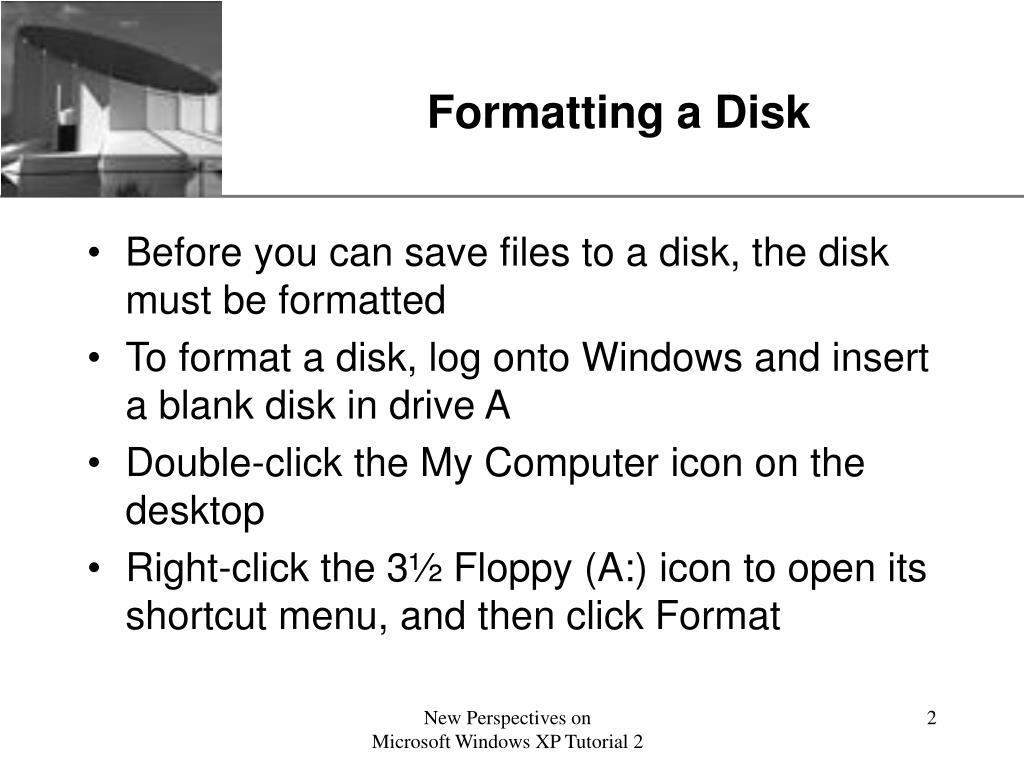 Formatting a Disk