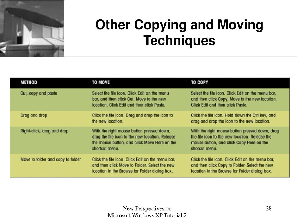 Other Copying and Moving Techniques