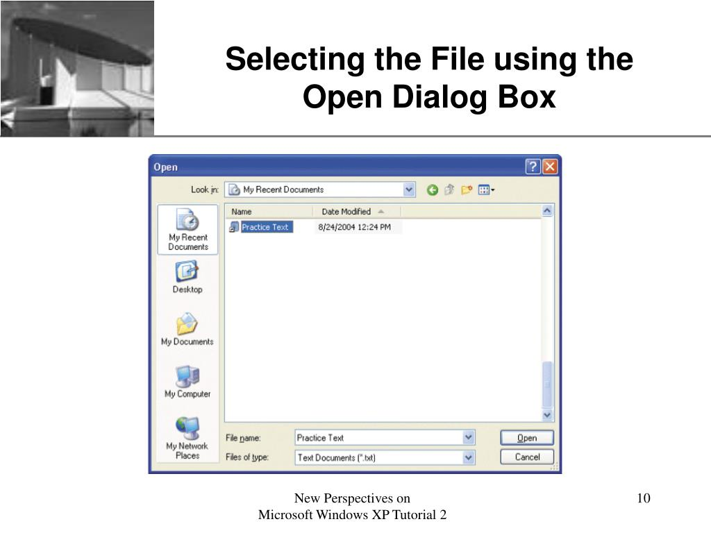 Selecting the File using the