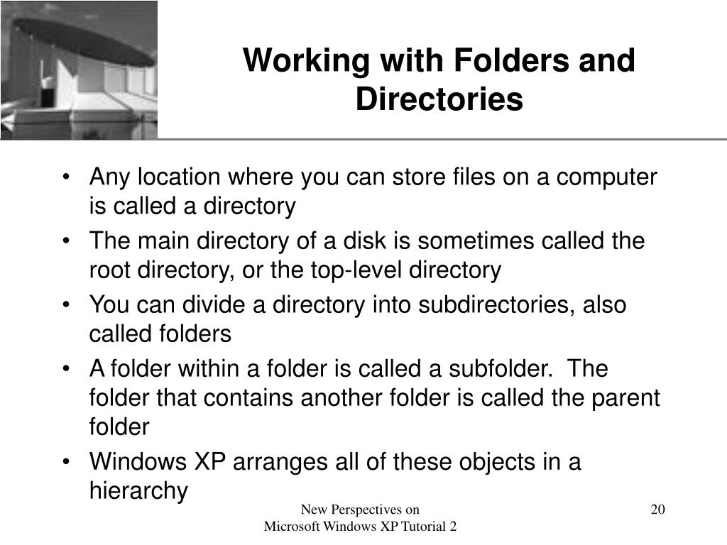 Working with Folders and Directories