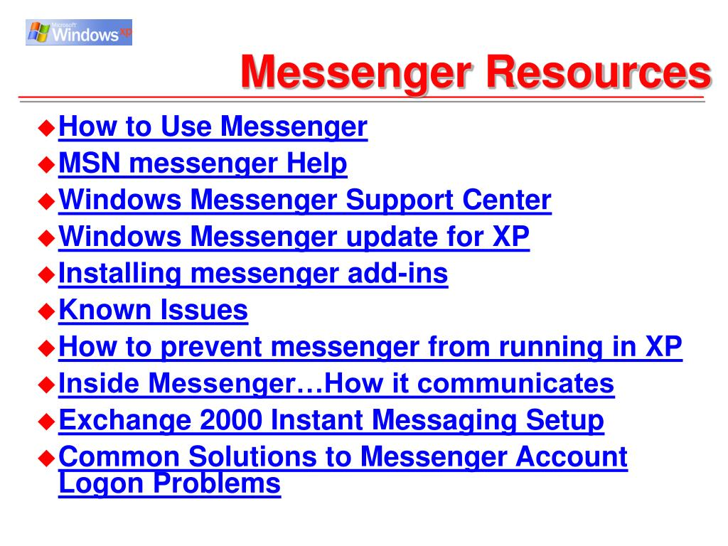Messenger Resources