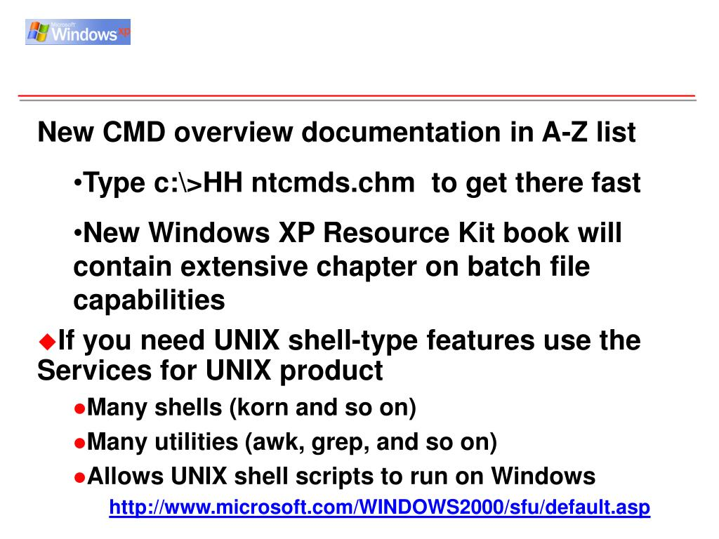 New CMD overview documentation in A-Z list