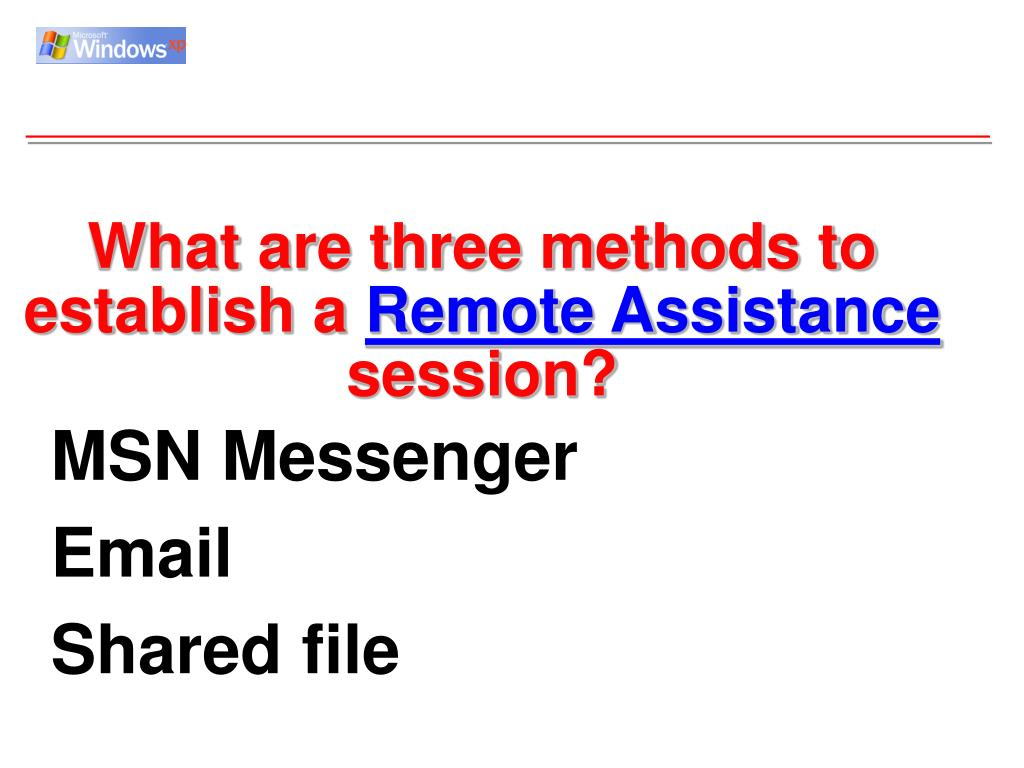 What are three methods to establish a