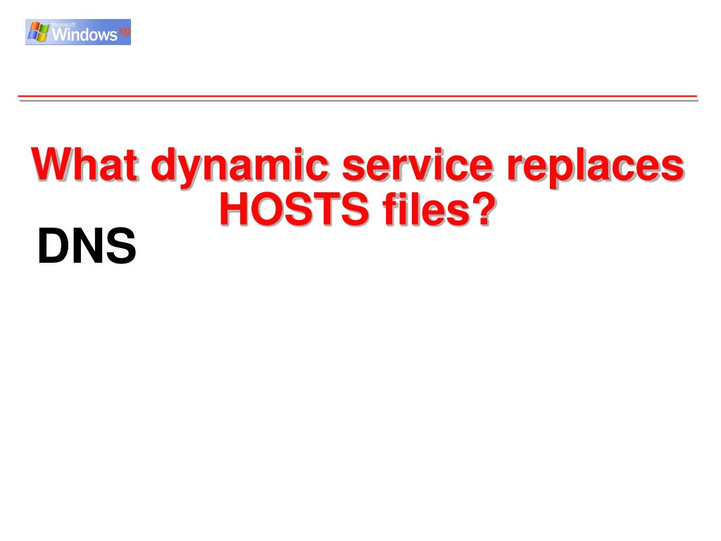 What dynamic service replaces HOSTS files?