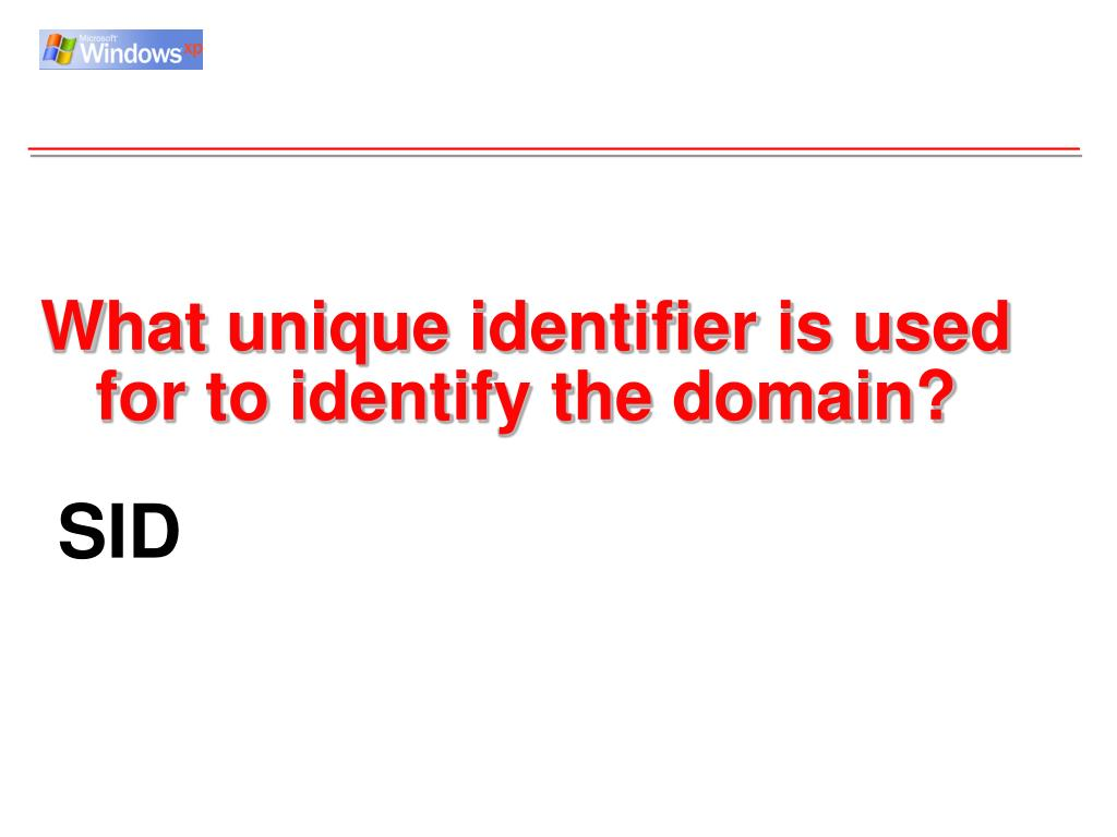 What unique identifier is used for to identify the domain?