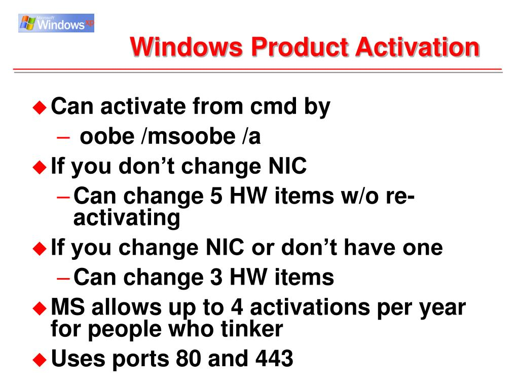 Windows Product Activation