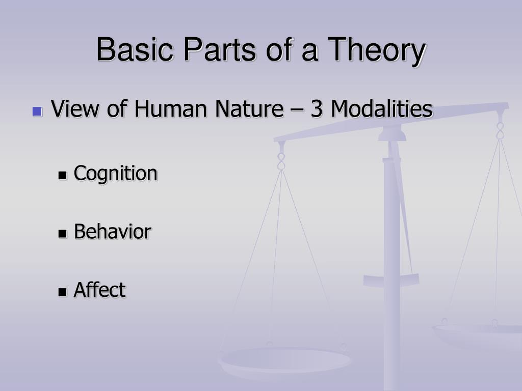 Basic Parts of a Theory