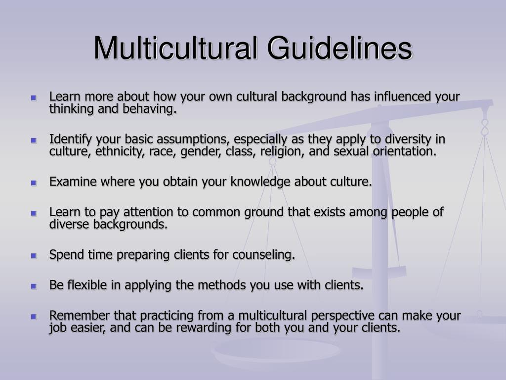 Multicultural Guidelines