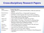 cross disciplinary research papers