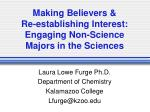 making believers re establishing interest engaging non science majors in the sciences