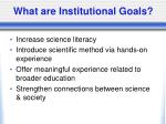 what are institutional goals