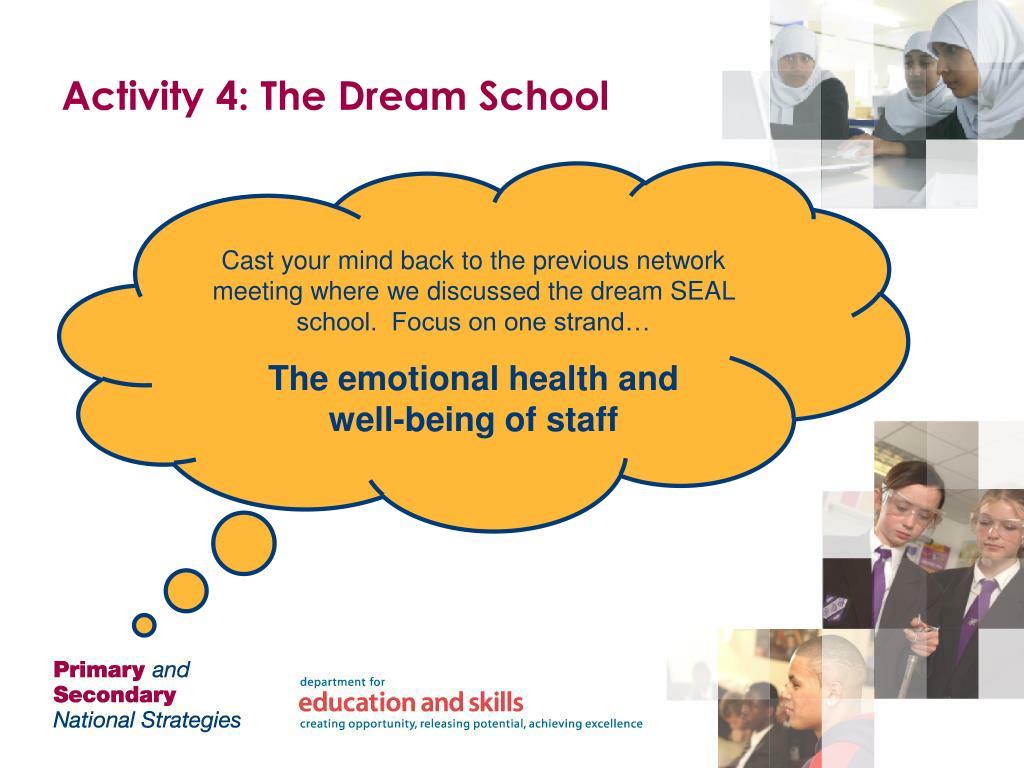 Activity 4: The Dream School