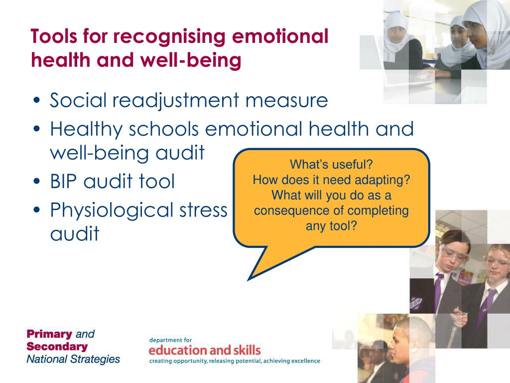 Tools for recognising emotional health and well-being