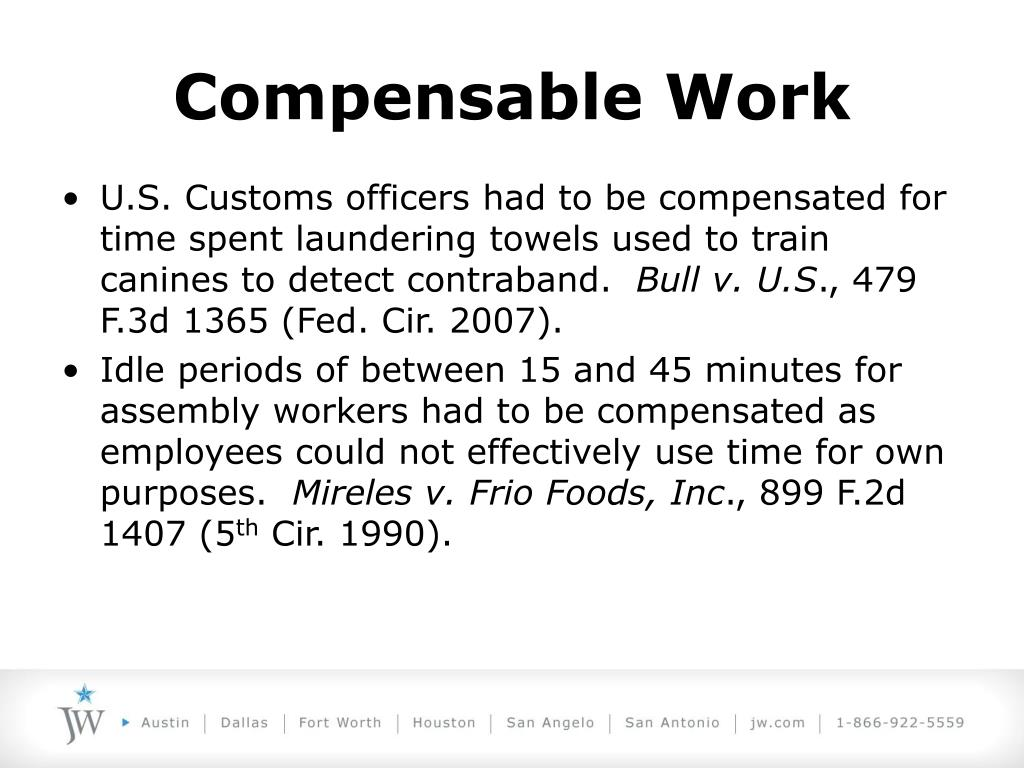 Compensable Work