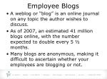 employee blogs