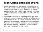 not compensable work