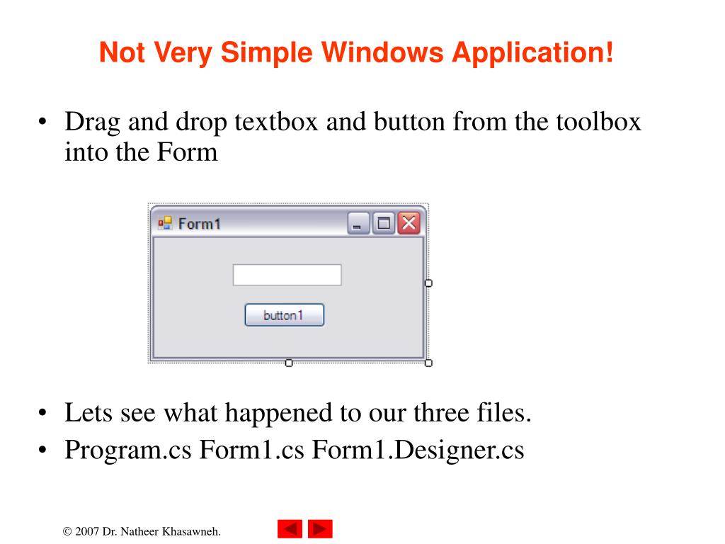 Not Very Simple Windows Application!