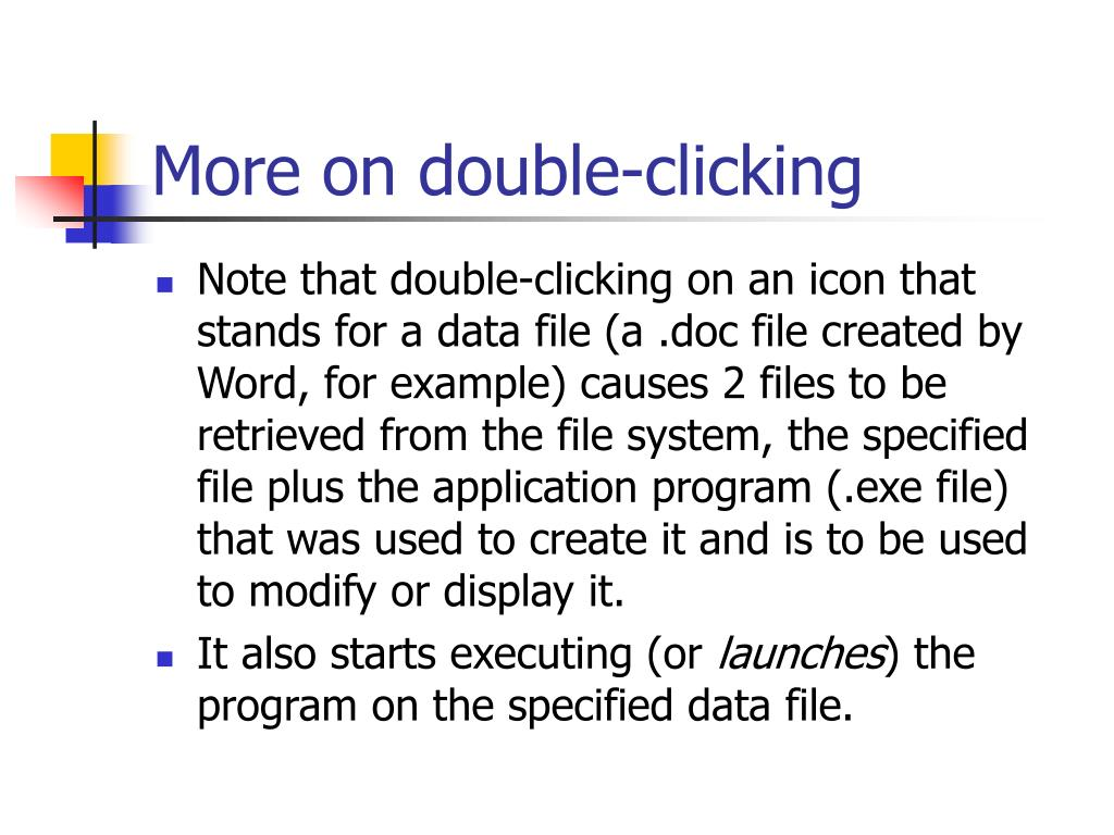 More on double-clicking