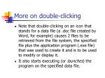 more on double clicking