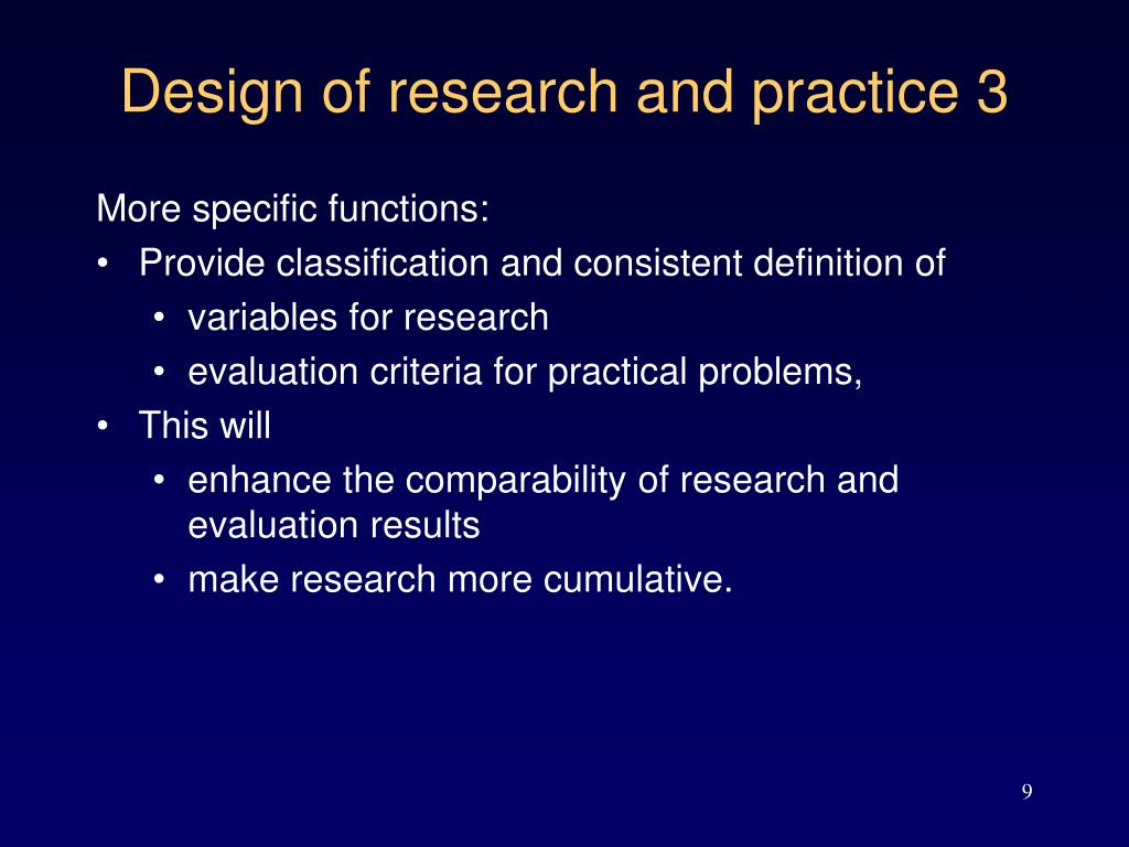Design of research and practice 3