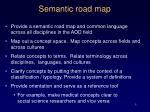 semantic road map
