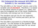 1b interpret the amount 22 589 on exhibit 2 for variable costs