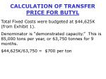 calculation of transfer price for butyl