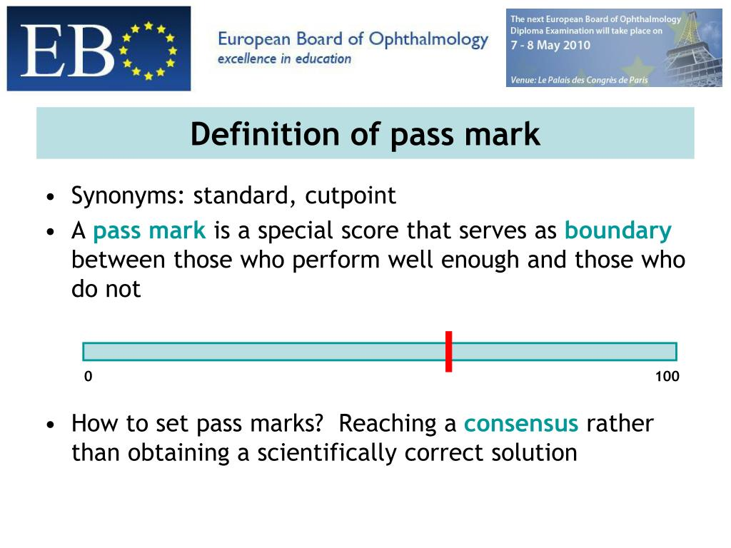 Definition of pass mark