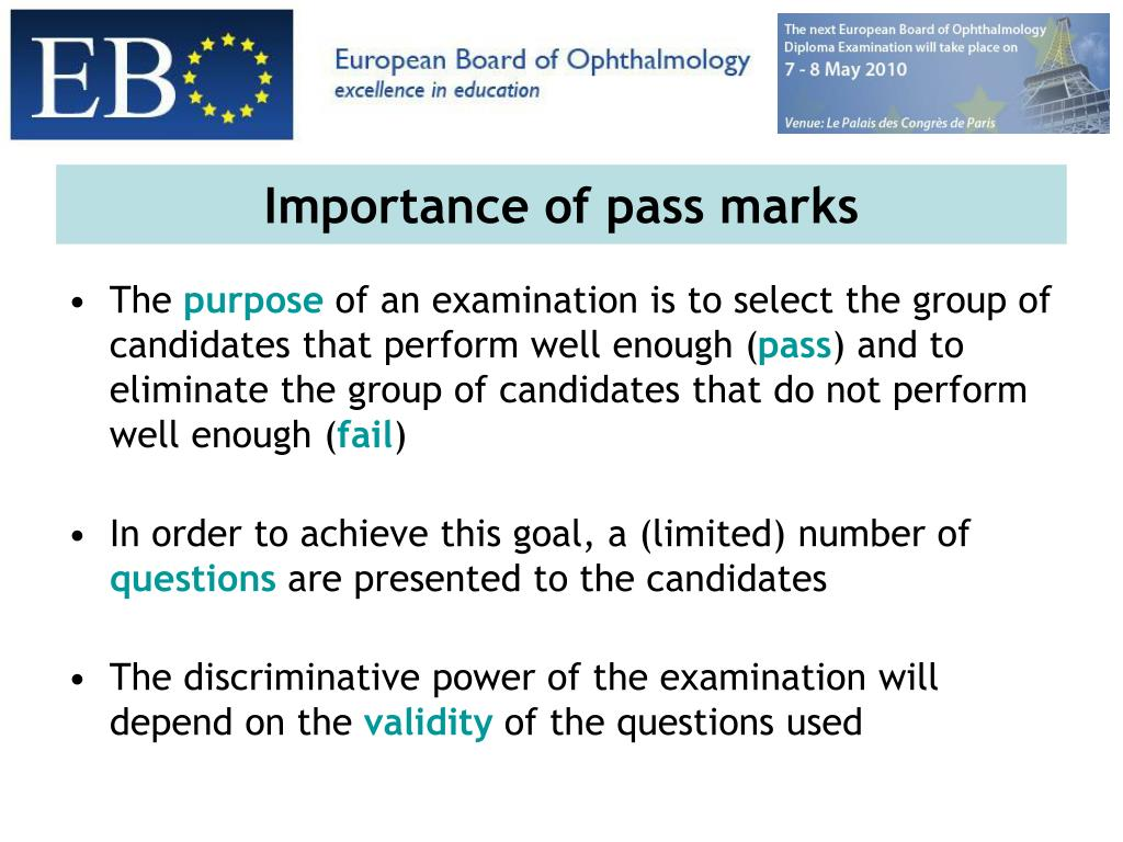 Importance of pass marks