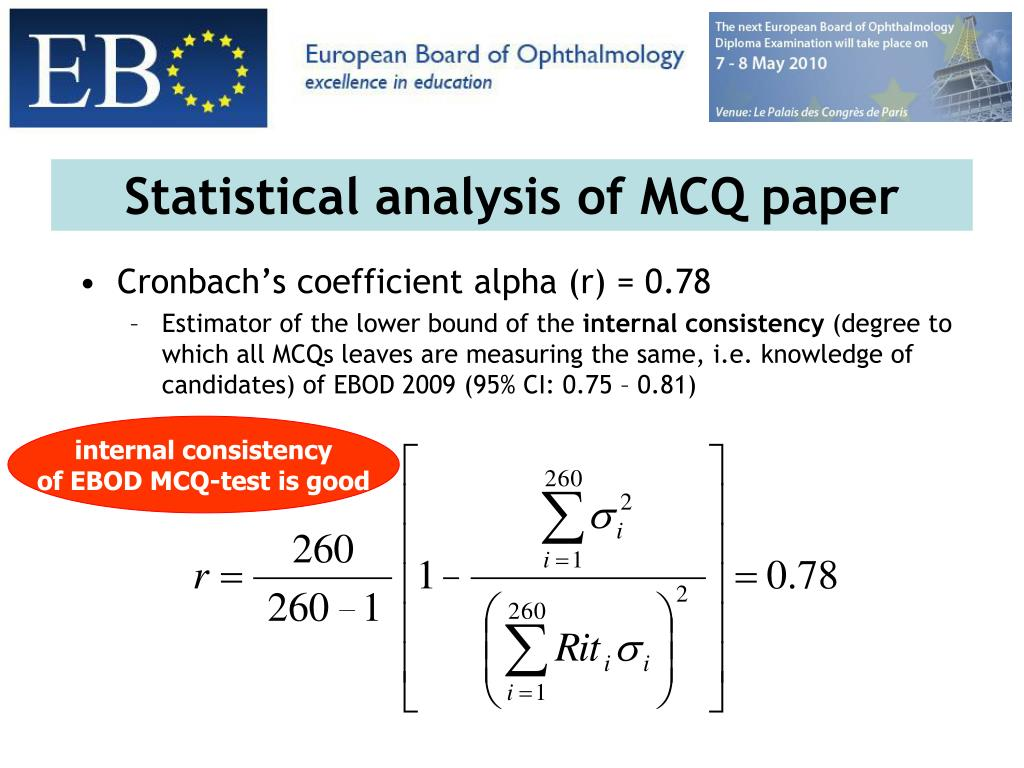 Statistical analysis of MCQ paper