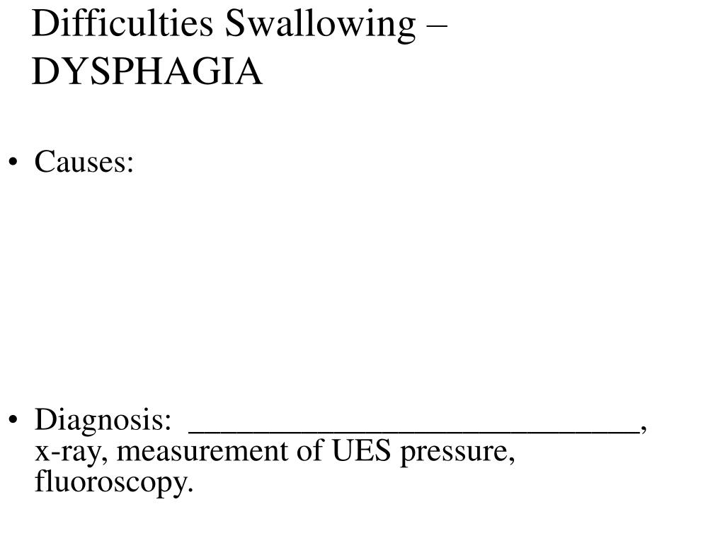 Difficulties Swallowing – DYSPHAGIA