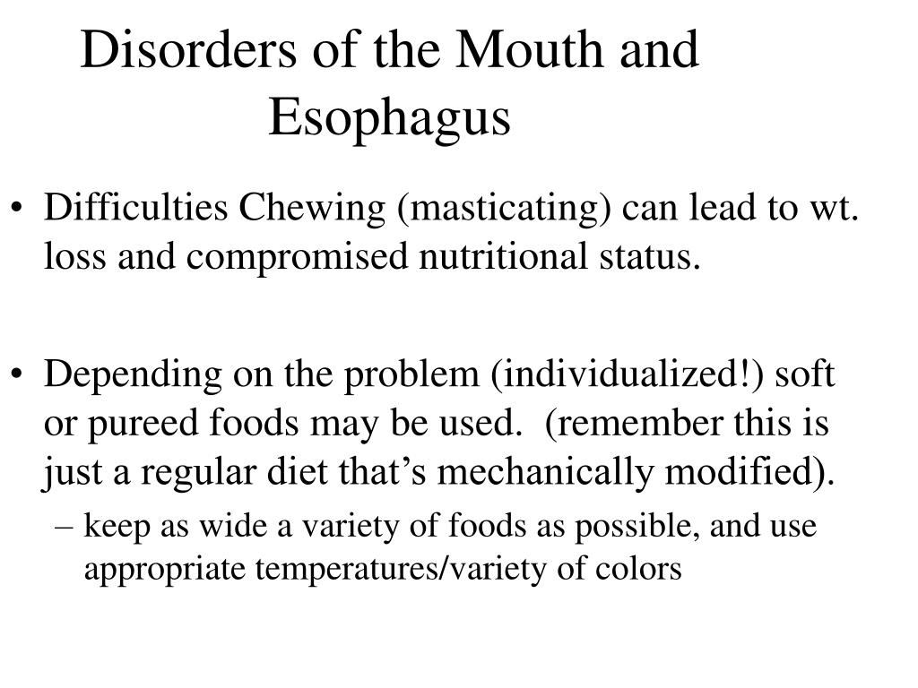 Disorders of the Mouth and Esophagus