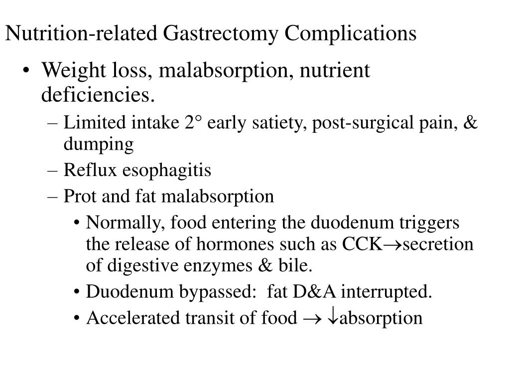Nutrition-related Gastrectomy Complications