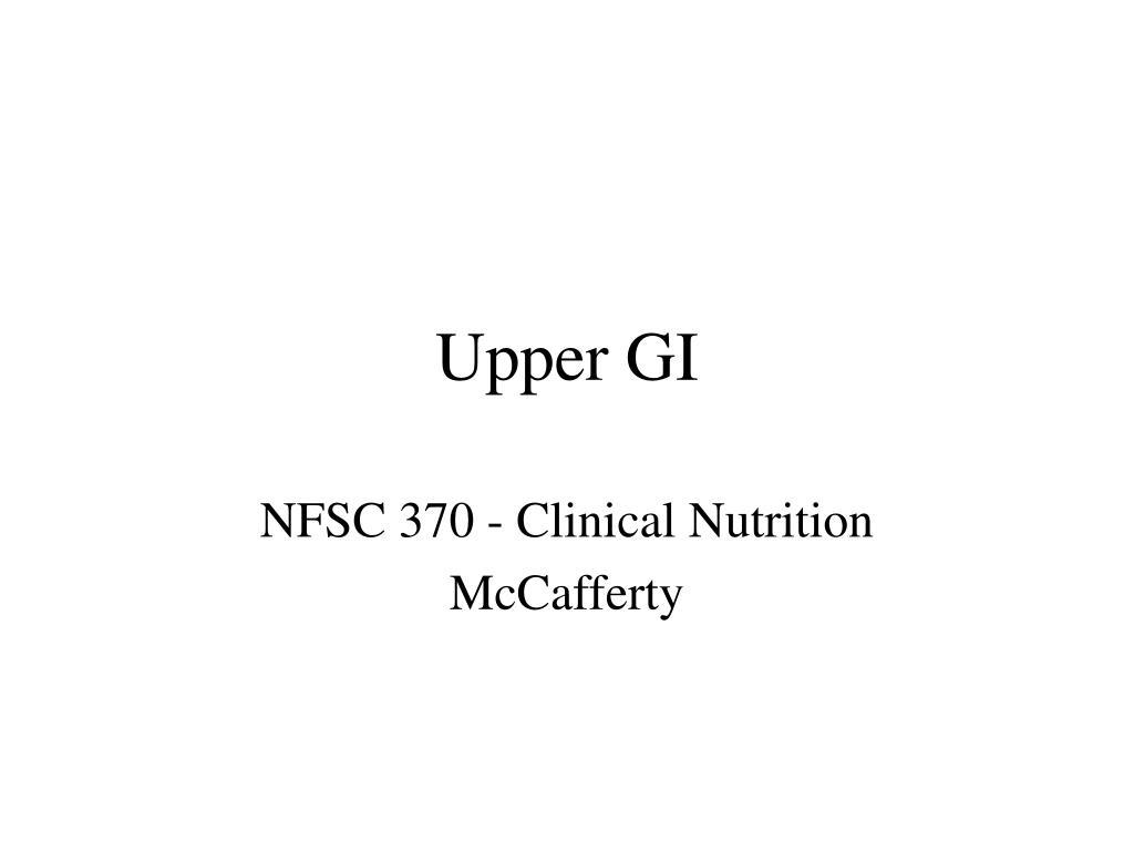 Upper GI