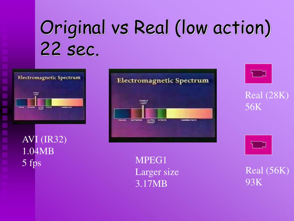 Original vs Real (low action)