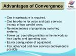 advantages of convergence