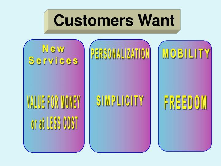 Customers Want