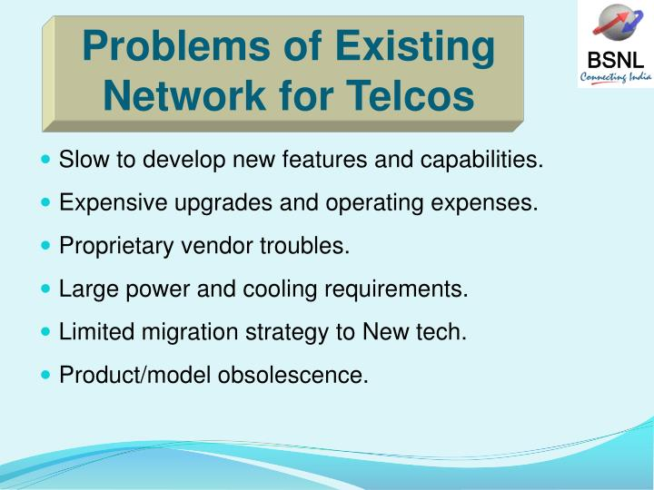Problems of Existing Network for Telcos