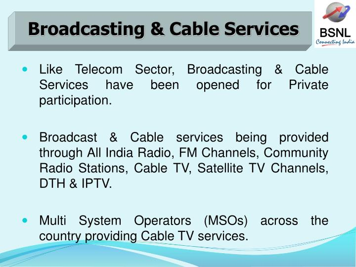 Broadcasting & Cable Services