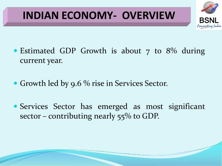 INDIAN ECONOMY-  OVERVIEW