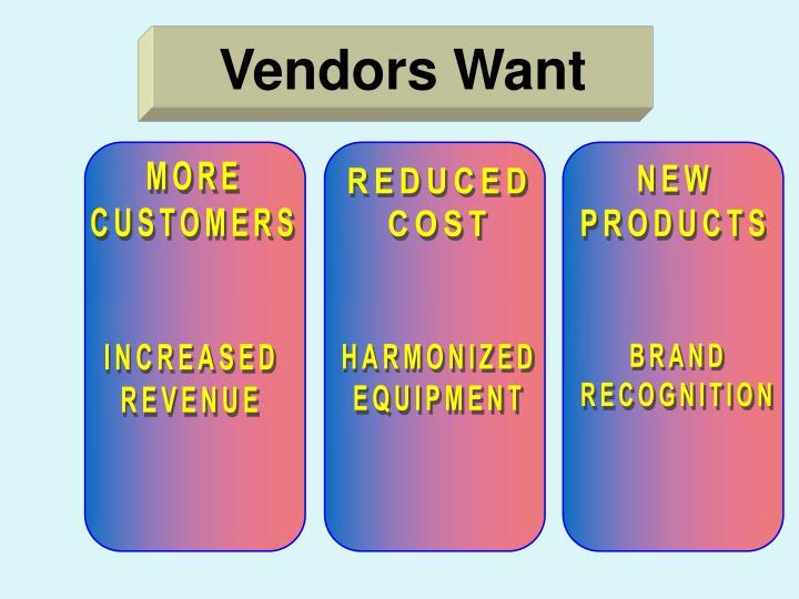 Vendors Want