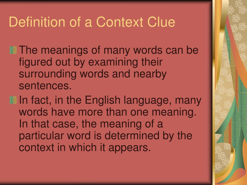 Definition of a Context Clue