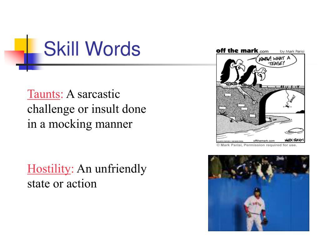 Skill Words