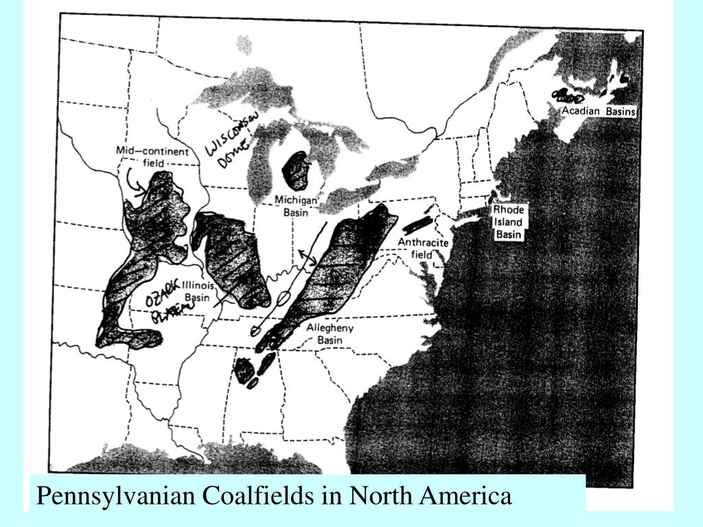 Pennsylvanian Coalfields in North America