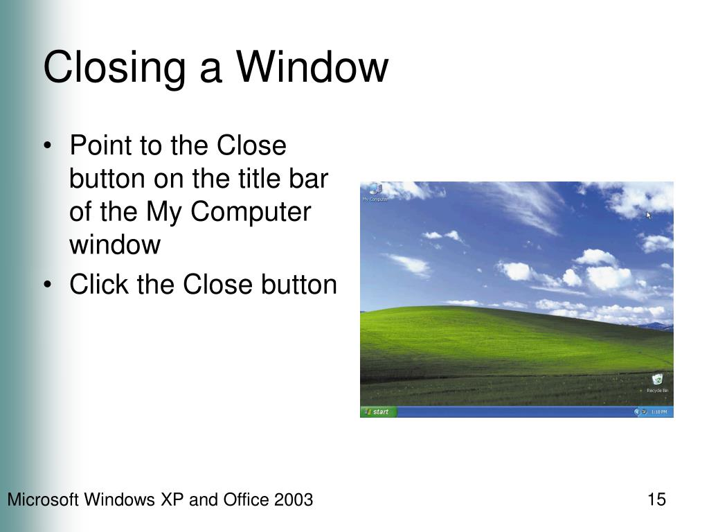 Closing a Window