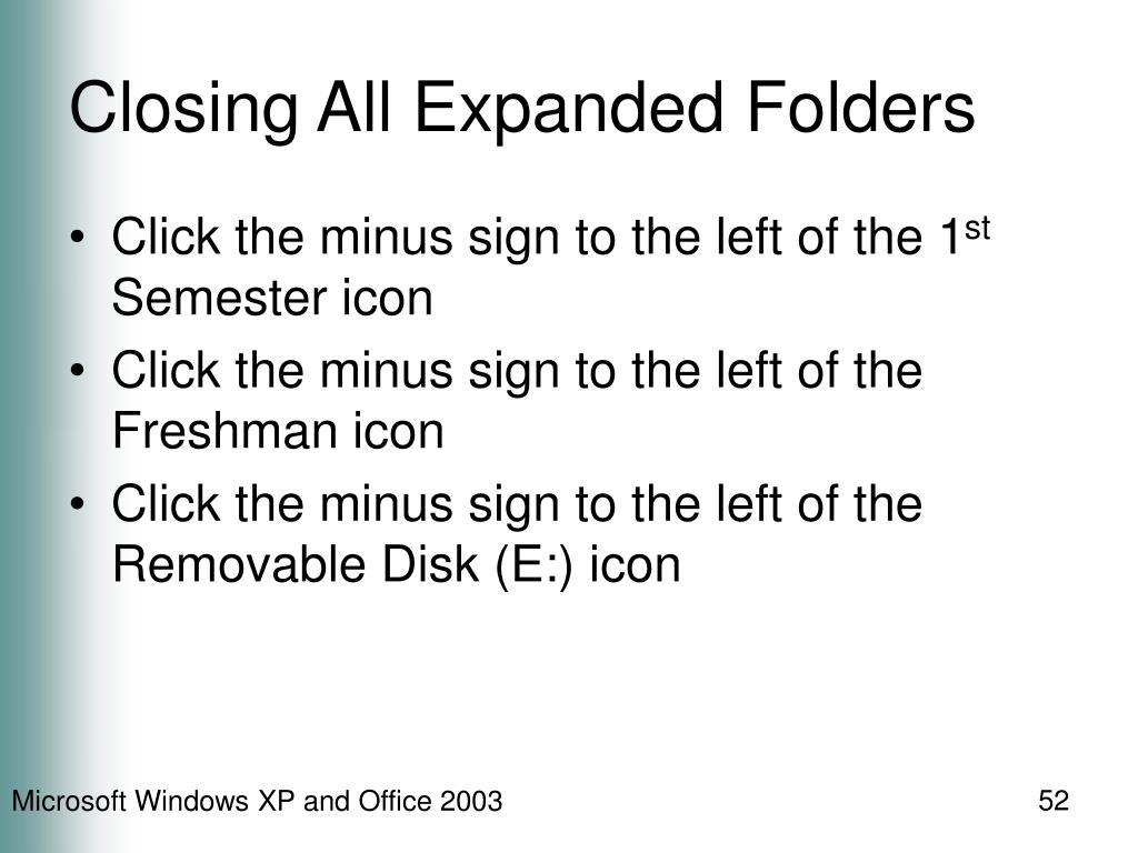 Closing All Expanded Folders